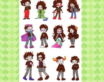 Troll Group Sticker Sheet