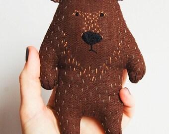 Brown bear soft toy, toy for children, Small Bear Plushie, bear birthday gift, Stuffed animal bear, Brown Bear Toy, bear kids gift