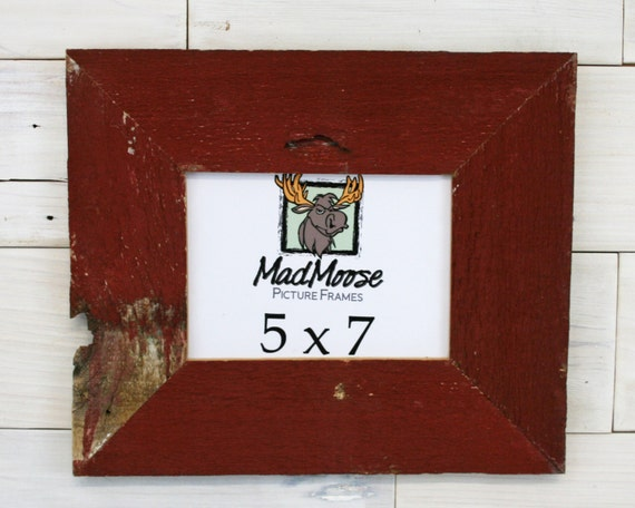 5x7 red barn wood thin x 3 picture frame a k a. Black Bedroom Furniture Sets. Home Design Ideas