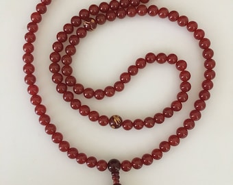 Dragon Mala // Carnelian 108 Beads with Tassel