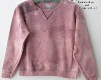 Womens Sweatshirt , Pink tie dye Sweatshirt, MEDIUM, Crewneck, Blue sweatshirt, grunge, acid wash, dip dye, retro, Cyber Monday, Gift