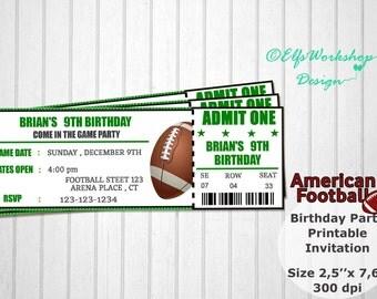Printable Football Party Invitations is adorable invitations ideas