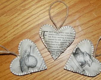 "Vintage Paper Hearts ""Charlotte's Web"""