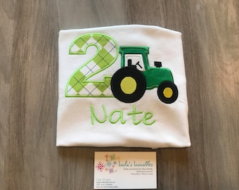 Tractor farmer birthday shirt personalized