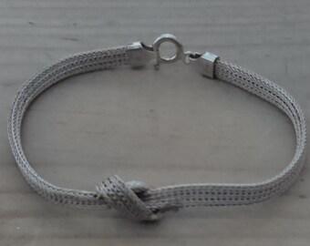 Vintage sterling silver mesh bracelet