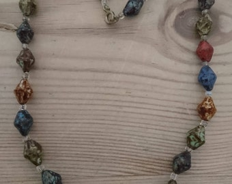 Vintage Murano glass bead necklace