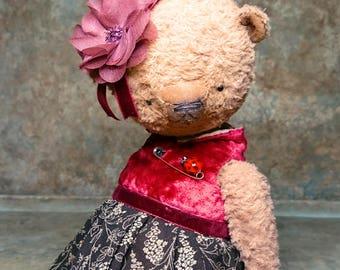OOAK Teddy bear GINGERLY SWEETY by Jevgeni Bulahtin