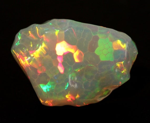 Natural Ethiopian Carved Opal Harlequin Fire AAA Loose Gemstone Amazing Patterns   #1450 Must Watch Video!