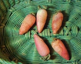 Antique Spun Cotton  Carrots, Feather Tree, Christmas Ornaments, Bowl Filler, Easter