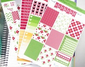 Red Poppies Premium Weekly Kit / Spring Floral Weekly for Erin Condren / Bright Color Weekly Kits / Floral, Spring, Summ