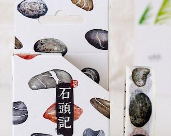 15mmX8M Nature Stone Rock Washi tape Masking Adhesive Tape