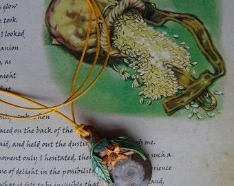 Boudica ~ Ammonite & Amazonite Pendant