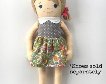 Custom Portrait Girl Cloth Doll Rag Doll Made To Order Girl Doll Personalized Girl Doll Customizable