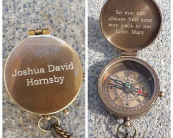 compass, engraved compass, groomsmen gift, personalized compass, working compass, fathers day, christmas gift, mothers day, anniversary