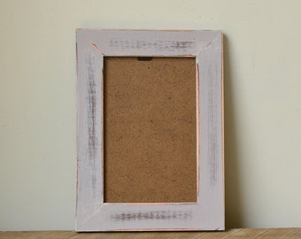 Shabby Chic Rustic Light Grey Distressed Photo Frame - 6x4 inches