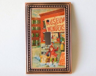 Museum of Wonders Light Switch Cover, Vintage Art Light Switch, Children's Book Art Light Switch Cover, Curiosity Shop Switchplate Art Decor