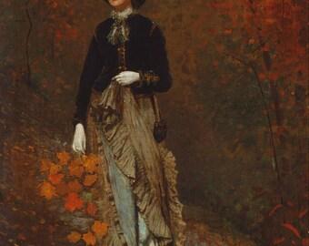 """Winslow Homer : """"Autumn"""" (1877) - Giclee Fine Art Print"""