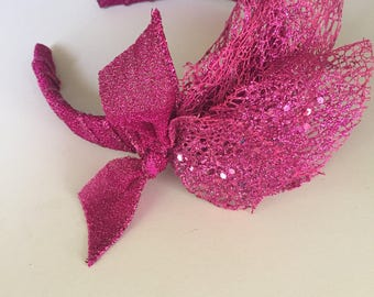 Magenta Enchanted Woodland Diva Headband one of a kind