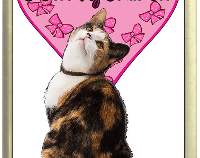 I Love My Tortie Cat Fridge Magnet 7cm by 4.5cm,