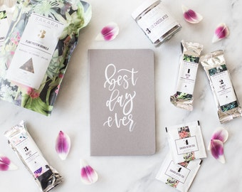 "Hand-Painted Moleskine Journal -  ""Best Day Ever"""