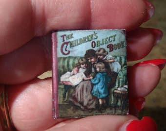 Dolls House 12th Scale The Children's Object Book. Downloadable miniature book.