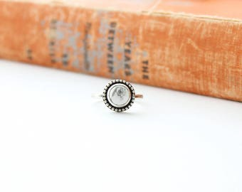 Howlite Ring // Gemstone Ring // Sterling Silver // Made to Order
