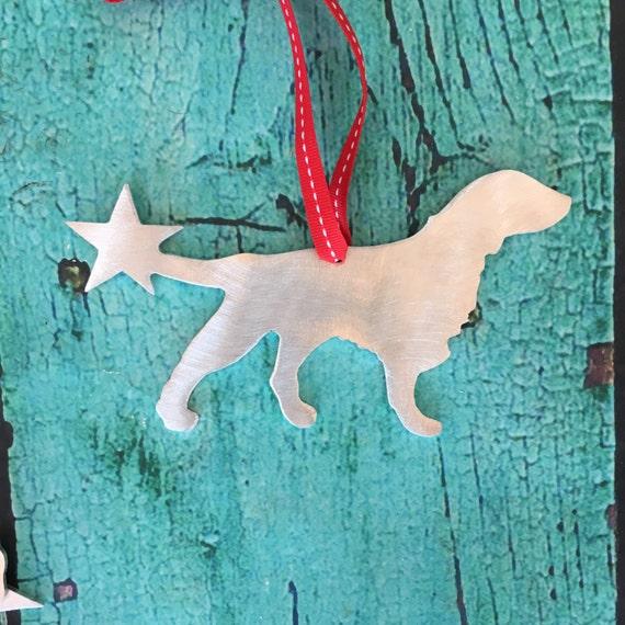 Flat coated retriever holiday ornament christmas