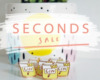 Slight Seconds Enamel Gin Pin