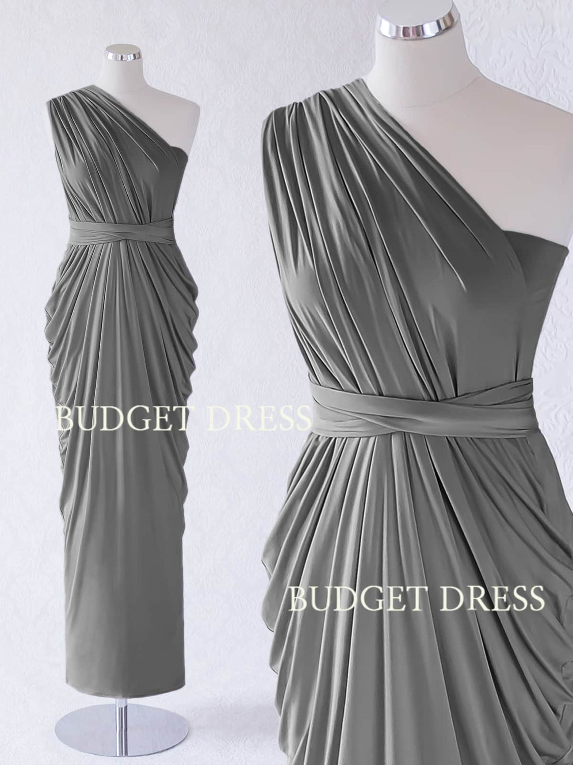 2017 NEW STYLE Charcoal Grey Infinity Bridesmaid Dress