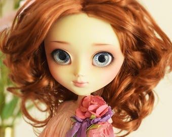 """Charly Doll WIG 8-9"""" for dolls : Pullip, Wichtel, Msd, Kaye Wiggs, Dollmore, Sd, Dal, 1/3 BJD..."""