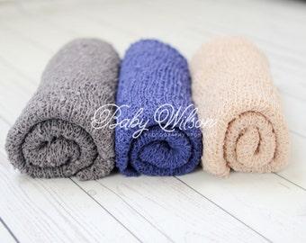 Newborn Knit Stretch Wrap, Newborn Photo Prop, Baby Stretch Wrap, Textured Newborn Wrap, RTS -