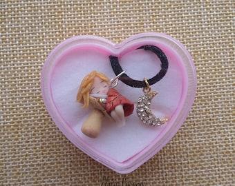 Fairy kawaii doll necklace , anime manga polymer clay fanart handmade usagi tsukino