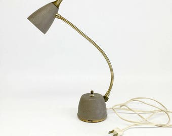 Mid Century Lamp, Atomic Lamp, Eagle Hi-Lite, Retro Desk Lamp, Gooseneck Lamp, Industrial Desk Lamp, Eagle Electric Co, Vintage Mid Century