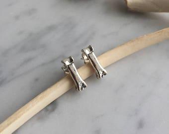 fox toe short studsBone jewelry, fox bone earrings post, kaya tinsman, 925, sterling silver earrings, dog bone, handmade earrings, red fox