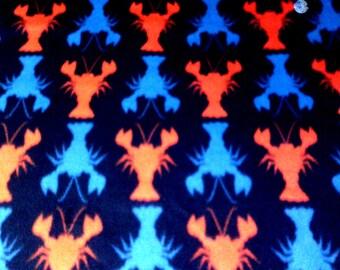 Lobster Crayfish Fleece Twin Blanket Gift Idea