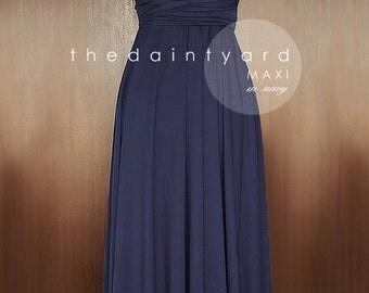 MAXI Navy Blue Bridesmaid Dress Convertible Dress Infinity Dress Multiway Dress Wrap Dress Transformer Dress Full Length Dress Cocktail