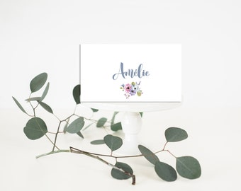 Printable Wedding Place-Card - Wedding Place-Card - Floral wedding Place-Card - Floral Place-Card - Floral Romantic Chic Wedding