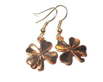 Four-leaf clover earrings