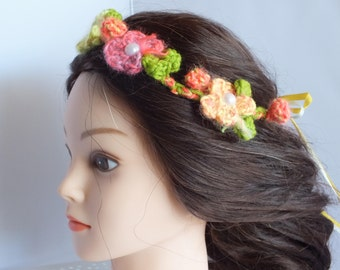 Crochet Flower Halo Headband