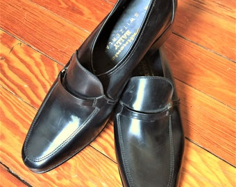 Deadstock Vintage 70s Bally Continentals Bodeo Black Loafers 9.5M