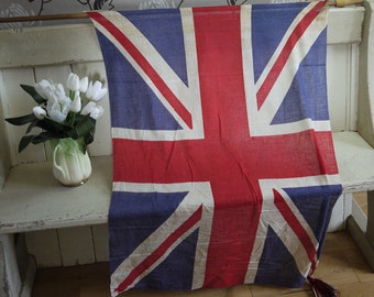 Vintage Union Jack Flag on Original Pole