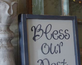 God bless our home personalized wall decor