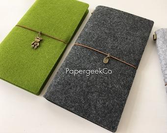 SALE 30% off Refillable Felt Journal Midori Traveler's Notebook