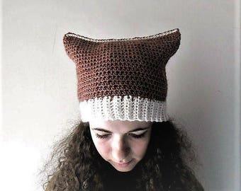 Cat ear hat, cat beanie, winter accessories, women cat hats -