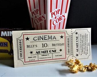 Printable Movie Ticket Invitation (Editable)