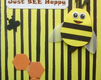 Greeting card with bumble bees