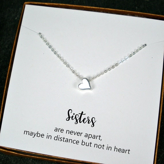 Unique Sister Gifts, Sister Necklace, Sister in Law Gift, Sister ...