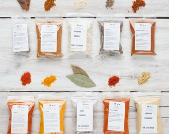 Ten Moroccan Spices - Tagine Spices - Ras El Hanout - Baharat - Gift for Foodie - Gift for Chef - Morocco Spices - fresh blended spices