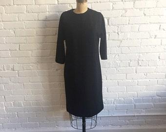 1960s Black Dress // 60s LBD Fred Rothschild // Vintage 60s Black Shift Dress