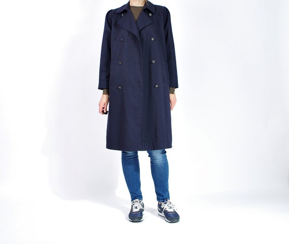SALE - 80s Monique Casual Street Style Navy Blue Women Coat Made in Denmark / Size S/M